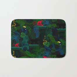 Animals in the jungle on the ruins Bath Mat