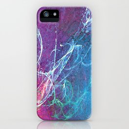 Colorful Sketchy Squiggle iPhone Case