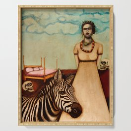 Frida and Her Zebra Dreams Serving Tray