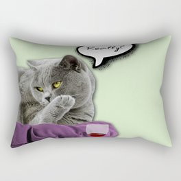 DRUNKY CAT Rectangular Pillow