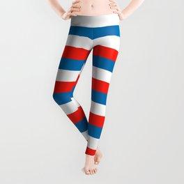 crimea faroe Wichita flag stripes Leggings