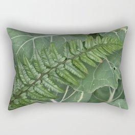 Fern on Cabbage Rectangular Pillow