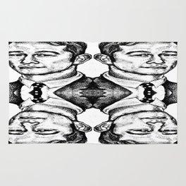 Joseph Gordon-Levitt collage Rug
