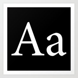Alphabet Typography Letter A Art Print