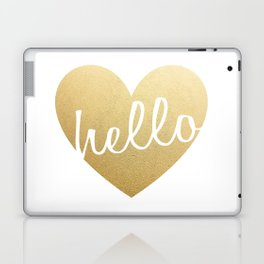 Hello Heart Wall Art #3 Gold Heart Laptop & iPad Skin