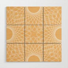 mathematical rotating roses - apricot Wood Wall Art