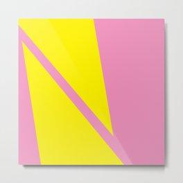 Pink Angles Metal Print