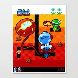 8-Bit Madness Dig Dug Canvas Print