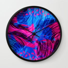 Going for an Abstract Swim Wall Clock