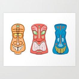 Tiki Luau Doodles Art Print