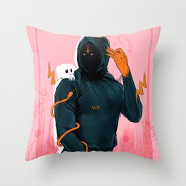 Hoodie Melo Throw Pillow