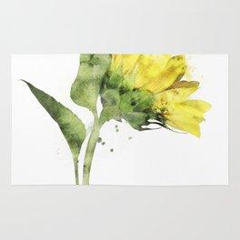 Watercolr sunflower Rug