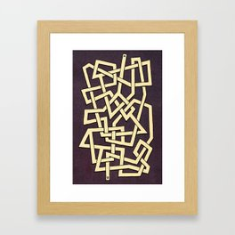 Maze 78 Framed Art Print