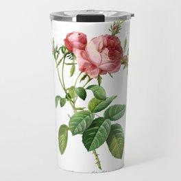 Vintage Rose - Redoute's Rosa Centifolia Foliacea Travel Mug