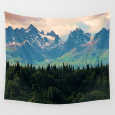 Escaping from woodland heights Wall Tapestry