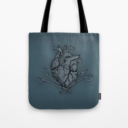 Suture Heart (blue version) Tote Bag
