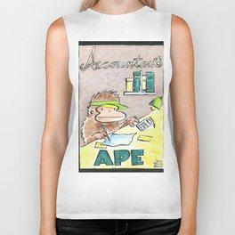 Accountant Ape Biker Tank