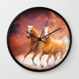 Red Sky Run Wall Clock