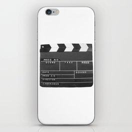 Film Movie Video production Clapper board iPhone Skin