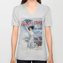 Fight or Buy Bonds Unisex V-Neck