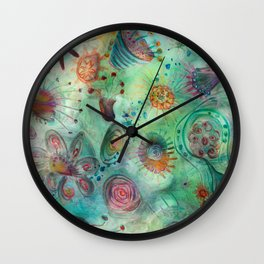 sea garden Wall Clock