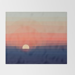 Colors Sunset Throw Blanket
