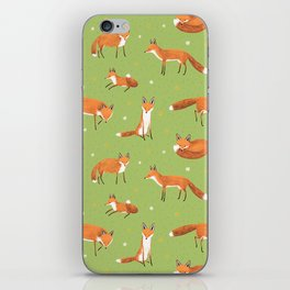 Red Foxes iPhone Skin