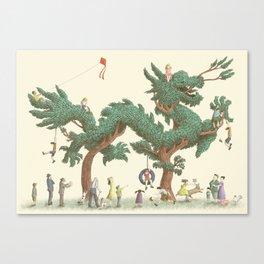 The Night Gardener - The Dragon Tree Canvas Print