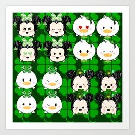 Irish Tsum Tsums Art Print