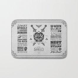 Legend of Zelda - The Hylian Shield Foundry Bath Mat