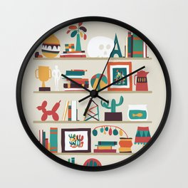 The shelf Wall Clock