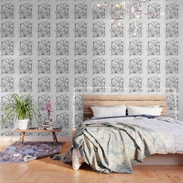 Scribble Doodle Flowers No.5A by Kathy Morton Stanion Wallpaper