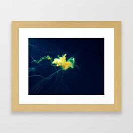 Sunshine Jellyfish Framed Art Print