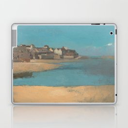 Odilon Redon - Village by the Sea in Brittany Laptop & iPad Skin