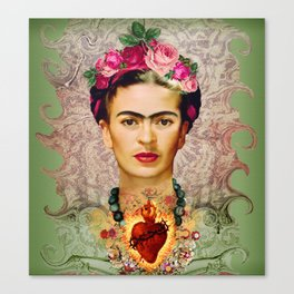 FRIDA KAHLO SACRED HEART Canvas Print