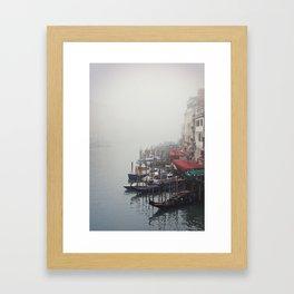 Foggy Venice Framed Art Print