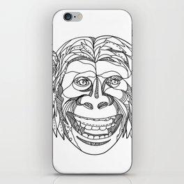 Humanzee Smiling Doodle iPhone Skin