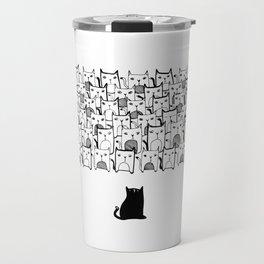 My army of Cats Travel Mug