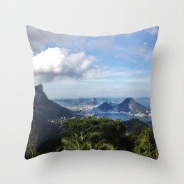 RIO DE JANEIRO THE CITY POSTCARD Throw Pillow