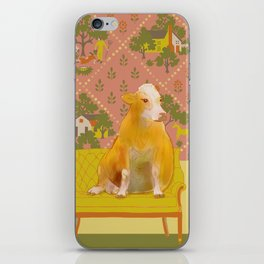Farm Animals in Chairs #1 Cow iPhone Skin