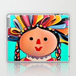 Mexican Maria Doll (turquoise) Laptop & iPad Skin