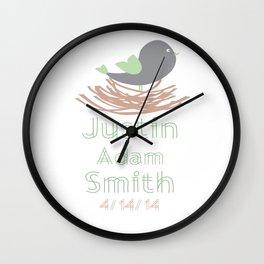 Baby Bird Personalized Print Wall Clock