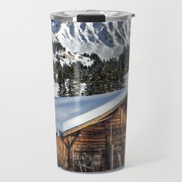 Winter Cabin Travel Mug