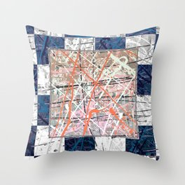 Flight of Color - blue geometric Throw Pillow