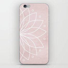 Mandala on Pink Watercolor Background iPhone Skin