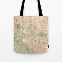 Vintage Map of Washington DC (1892) Tote Bag