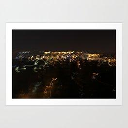 Blurry Nights NYC Art Print