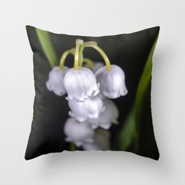 Lily of the valley close up Throw Pillow