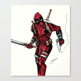 Wade Wilson. Merc with a mouth Canvas Print