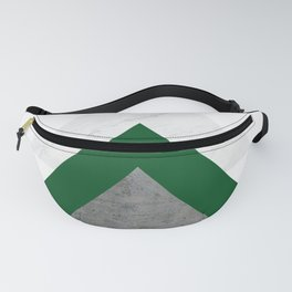 Marble Green Concrete Arrows Collage Fanny Pack